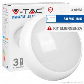 V-Tac VT-19 Plafoniera LED 17W con Kit Emergenza e Sensore di Movimento Microonde - SKU 812