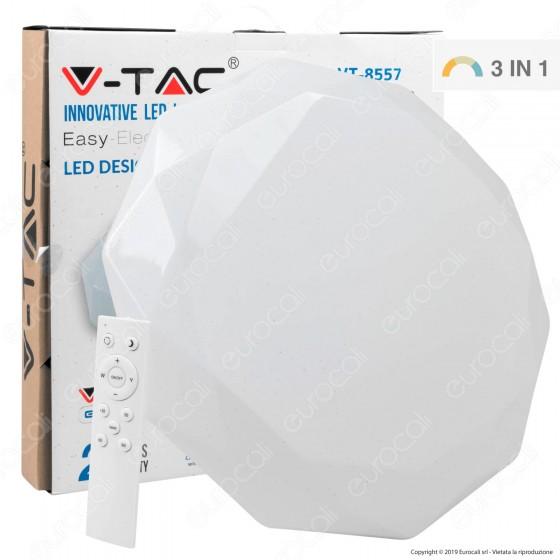 V-Tac VT-8557 Plafoniera LED 60W Forma Circolare Sfaccettata Effetto Cielo Stellato