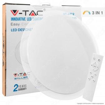 V-Tac VT-8472 Plafoniera LED 72W Forma Circolare Effetto Cielo Stellato con Telecomando - SKU 1495