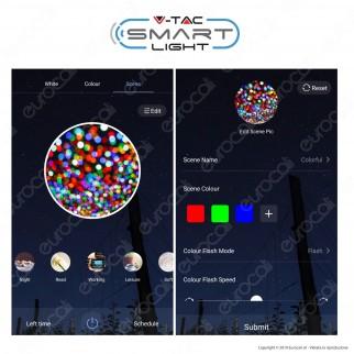 V-Tac Smart VT-5124 Lampadina LED Wi-Fi E27 4,5W MiniGlobo G45 RGB+W