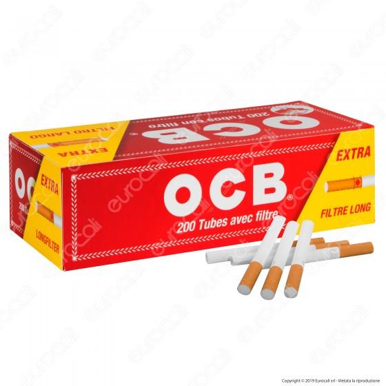 Ocb Tubetti con Filtro King Size - Box da 200 Sigarette Vuote