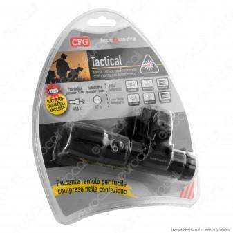 CFG EL032 Torcia LED 3W in Alluminio con Puntatore Laser e Scatto Remoto - Ideale per Fucili