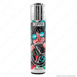 Clipper Large Fantasia Hippie Man - Box da 48 Accendini