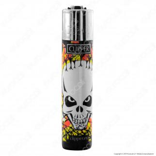 Clipper Large Fantasia Skulls Kill - Box da 48 Accendini