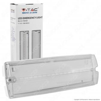 V-Tac VT-543 Lampada LED d'Emergenza Anti Black Out Grado Protezione IP65 - SKU 83111