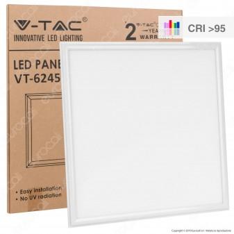 V-Tac PRO VT-6245 Pannello LED 60x60 45W SMD con Driver CRI≥95 - SKU 8086 / 8087 / 8088