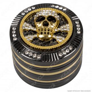 Grinder Tritatabacco Champ Skull 4 Parti in Metallo Ø50mm