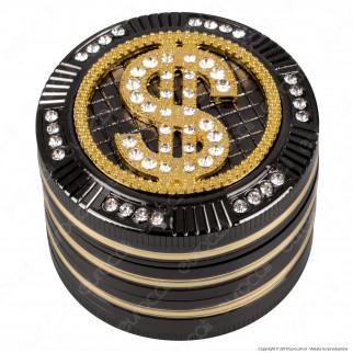 Grinder Tritatabacco Champ Dollar 4 Parti in Metallo Ø50mm