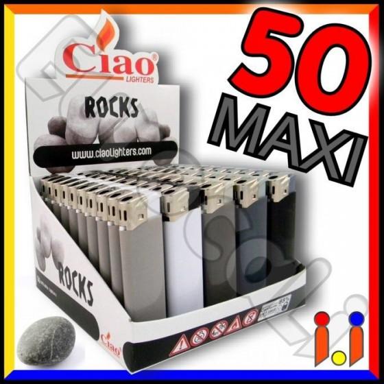 Ciao Maxi Fantasia Rocks - Box da 50 Accendini