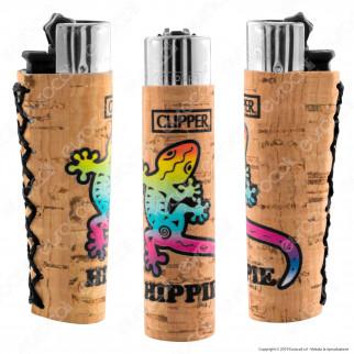 Clipper Large con Rivestimento in Sughero Fantasia Hippie - 1 Accendino