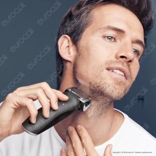 Braun Series 7 7893s Rasoio da Barba da Uomo Ricaricabile e Impermeabile con Rifinitore