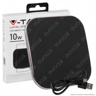 V-Tac VT-3525 Caricatore Wireless con Ricarica QI Output Massimo 10W Colore Nero - SKU 8911
