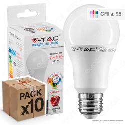 10 Lampadine LED V-Tac VT-2212 E27 12W Bulb A60 CRI ≥95 - Pack Risparmio