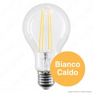 5 Lampadine LED V-Tac VT-2133 E27 12,5W Bulb A70 Filament - Pack Risparmio
