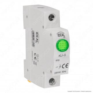 Kanlux KLI Modulo Segnale LED Luminoso Presenza Rete per Quadro Elettrico DIN 35 - mod. 23320 / 23321 / 23322