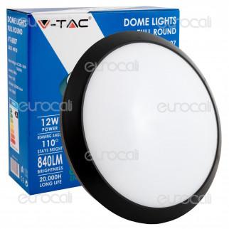 V-Tac VT-8007 Plafoniera LED 12W Forma Circolare Colore Nero