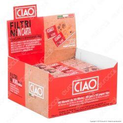 CIAO Filtri In Carta Non Sbiancata Riciclabili e Biodegradabili - Scatola da 40 Blocchetti