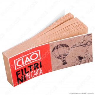 CIAO Filtri In Carta Non Sbiancati Riciclabili e Biodegradabili - Scatola da 40 Blocchetti