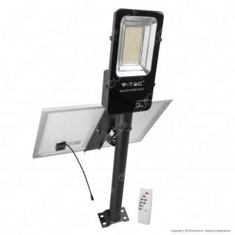 V-Tac VT-ST-200 Lampada Stradale LED con Pannello Solare 50W Lampione SMD - SKU 5502