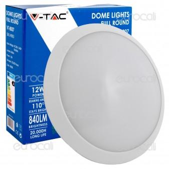 V-Tac VT-8007 Plafoniera LED 12W Forma Circolare Colore Bianco
