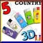 Ciao Mini 3D Fantasia Country - 5 Accendini