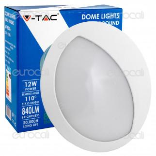 V-Tac VT-8006 Plafoniera LED 12W Forma Circolare con Palpebra Colore Bianco