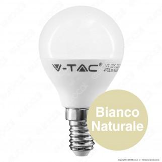V-Tac PRO VT-225 Lampadina LED E14 4,5W MiniGlobo P45 Chip Samsung - SKU 264 / 265 / 266