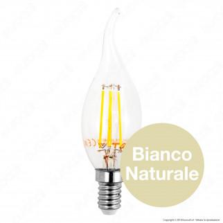 V-Tac VT-1997 Lampadina LED E14 4W Candela Fiamma Filamento - SKU 4302 / 4429 / 4430
