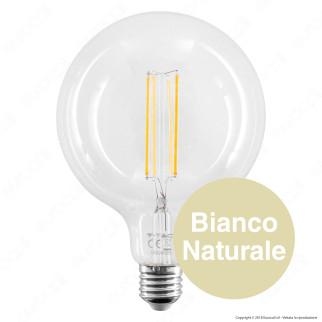 2 Lampadine LED V-Tac VT-2143 Filament E27 12,5W Globo G125 - Pack Risparmio