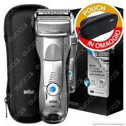 Braun Series 7 7893s Rasoio da Barba da Uomo Ricaricabile e Impermeabile con Rifinitore e Pouch Braun OMAGGIO