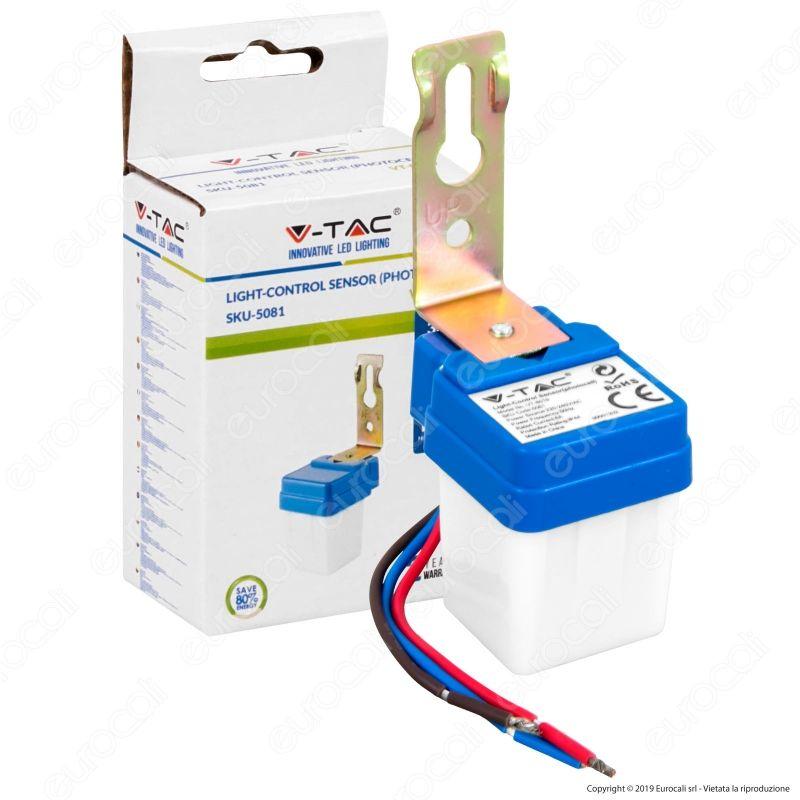 V Tac Vt 8019 Sensore Fotocellula Crepuscolare Ip44 Per Lampadine