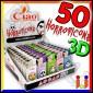 Ciao Mini 3D Fantasia Horroticons - Box da 50 Accendini