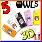 Ciao Mini 3D Fantasia Owls - 5 Accendini