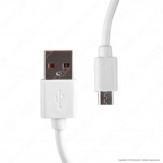 V-Tac VT-5381 Caricabatteria USB da Viaggio con Ricarica Rapida 3A e Cavo Micro USB Colore Bianco - SKU 8641