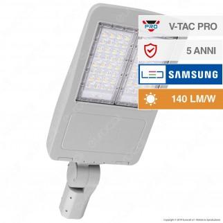 V-Tac PRO VT-122ST Lampada Stradale LED 120W Lampione SMD Chip Samsung Fascio Luminoso Type 3M - SKU 885 / 886