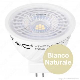 V-Tac PRO VT-257 Lampadina LED GU5.3 (MR16) 6,5W Faretto Spotlight Chip Samsung - SKU 204 / 205 / 206
