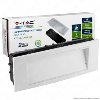 V-Tac VT-511 Lampada LED 110lm d'Emergenza Anti Black Out Grado Protezione IP20 - SKU 8249