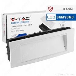 V-Tac VT-511S Lampada LED d'Emergenza Anti Black Out Chip Samsung da Interno - SKU 899