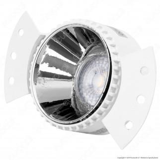V-Tac VT-889 Portafaretto Rotondo da Incasso con Interno Cromato per Lampadine Faretti LED GU10 e GU5.3 - SKU 8879