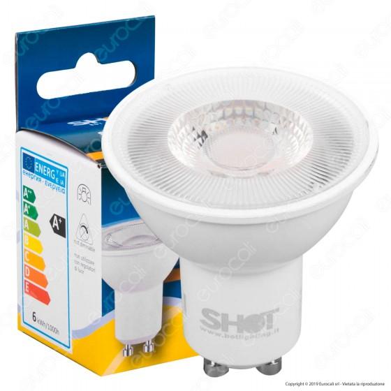 Bot Lighting Shot Lampadina LED GU10 6W Faretto Spotlight 60° - mod. SLD630742B / SLD630743B / SLD630741B