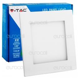 V-Tac VT-800 SQ Pannello LED Quadrato 8W SMD5630 da Incasso - SKU 4820 / 4819 / 4818