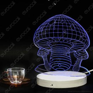 Placca in Plexiglass con Forma Fungo 3D Incisa al Laser - Made in Italy