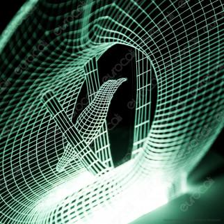 Placca in Plexiglass con Forma Vaso con Uccello 3D Incisa al Laser - Made in Italy