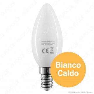 Intereurope Light Lampadina LED E14 4W Candela Milky Filamento - mod. LL-HCFM1404C