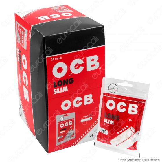 Ocb Slim Extra Lunghi 6mm - Box 34 Bustine da 100 Filtri