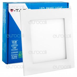 V-Tac VT-1500 SQ Pannello LED Quadrato 15W SMD5630 da Incasso - SKU 4826 / 4825 / 4824