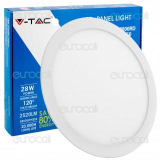 V-Tac VT-2800 RD Pannello LED Rotondo 28W SMD5630 da Incasso