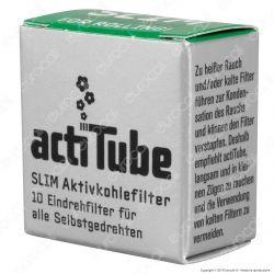 ActiTube Filtri Slim 7mm Carboni Attivi - Scatolina da 10 Filtri
