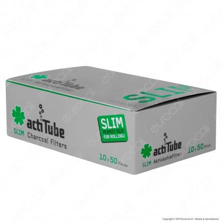 PROV-C00122002 - ActiTube Filtri Slim 7mm Carboni Attivi - Box 10 Scatoline da 50 Filtri