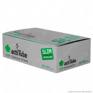ActiTube Filtri Slim 7mm Carboni Attivi - Box 10 Scatoline da 50 Filtri